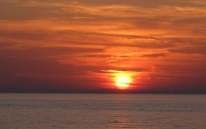 Cornino - Tramonto sul mare