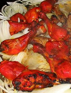 Giacimento di pollo Tandoori