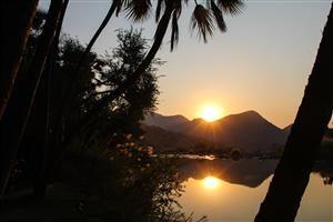 Tramonto su Kunene River