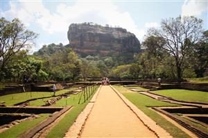 La caratteristica roccia di Sigiriya