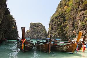 Parcheggi affollati a Phi Phi Island